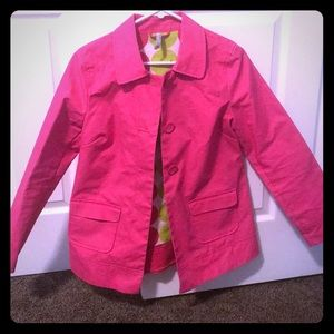 Hot pink light weight jacket, old navy